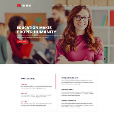 响应式大学教育学校机构html网站模板