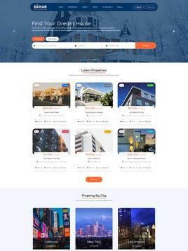 响应式房产信息交易平台html网站模板