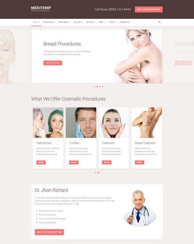 大气女性整形美容医院html网站模板