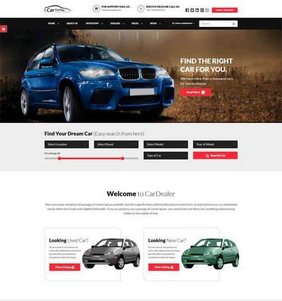 汽车经销商销售平台响应式网站模