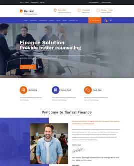 商业金融投资服务咨询公司响应式