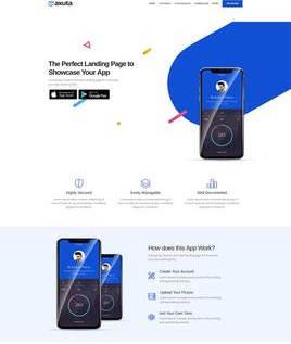 手机app下载宣传官网html响应式网站模板