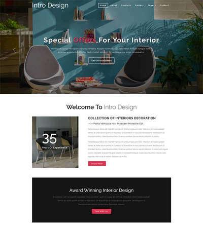 简洁办公室家具设计公司静态网站模板