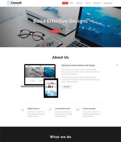 简洁宽屏商业设计企业通用网站模板