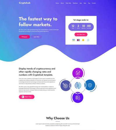 虚拟货币交易介绍HTML静态首页模板