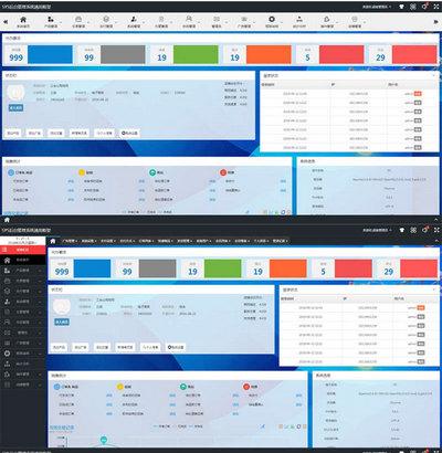 SYS通用型商城后台管理框架模板