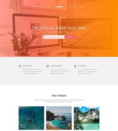 html5通用企业博客类型静态网站模板