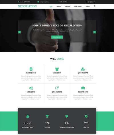 宽屏商业方案解决公司html网站模板