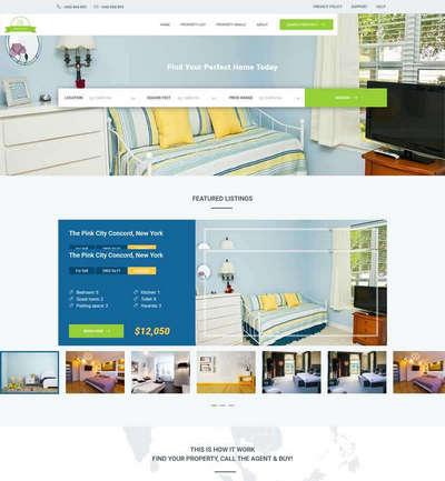 二手房屋租赁交易平台html静态网站模板