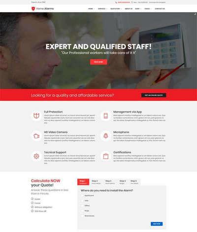 大气室内监控设备公司网站HTML静态模板
