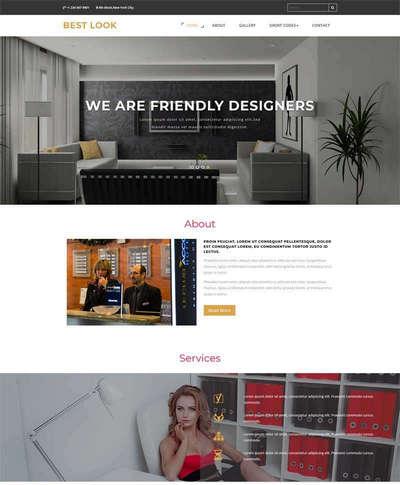 大气室内装饰公司静态html网页模板