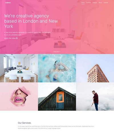 html5创意平面设计公司网页模板