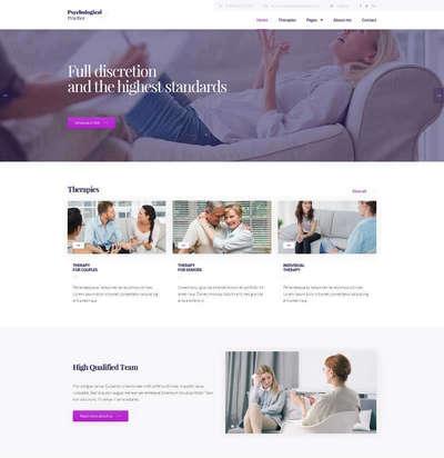 html5心理咨询服务静态网站模板