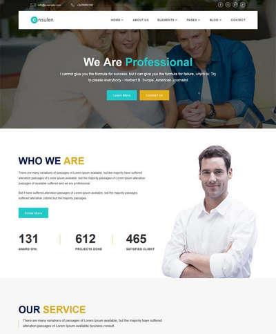大气金融保险咨询公司响应式网站