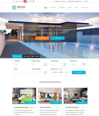 大气旅游酒店预订服务平台网页模