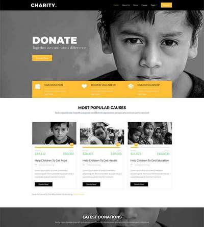 儿童慈善救助基金公益html静态网站模板