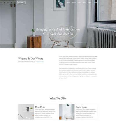 简洁创意家居网站响应式html静态模板