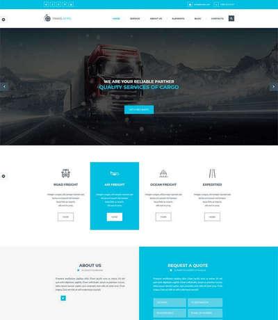蓝色大气物流货运公司网站bootst