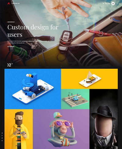 html5创意三维动画游戏公司网站模板