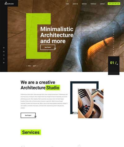 创意建筑设计公司html官网静态模板