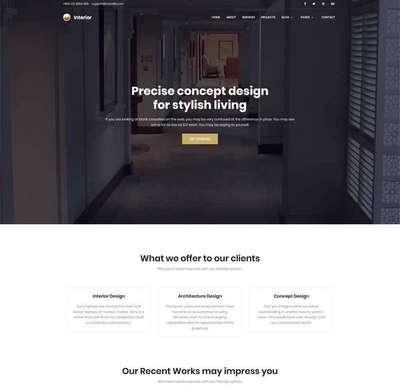 黑色宽屏艺术创意公司html网站模