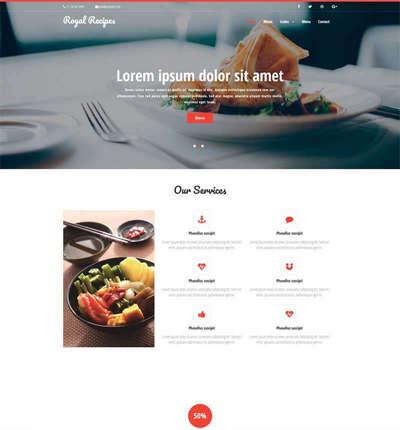 美食餐厅预订html静态网站模板