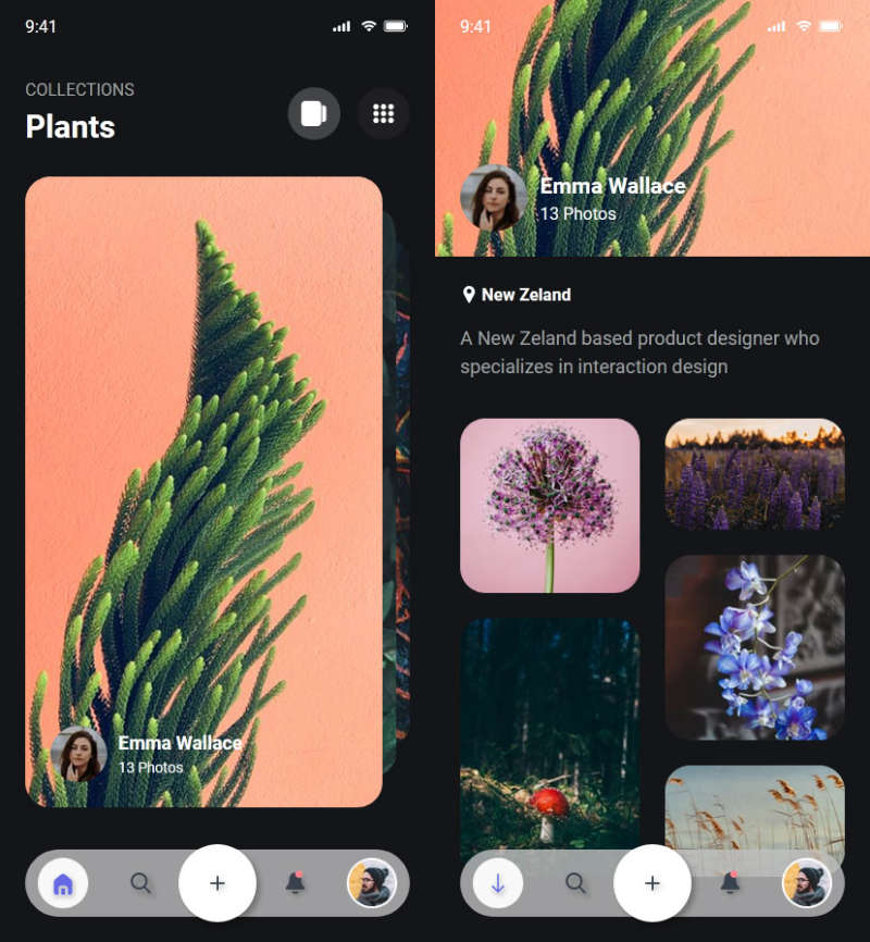 创意手机框内图片交互特效
