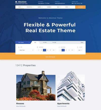 房产销售租赁交易平台html静态网