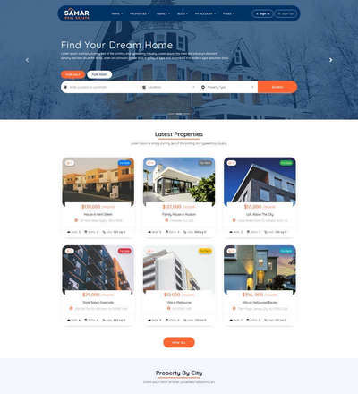 房产信息交易平台html静态网站模