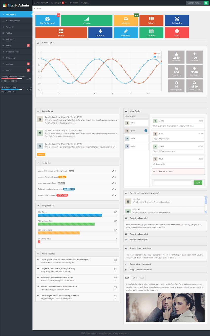 win8风格网页后台管理模板html全站下载