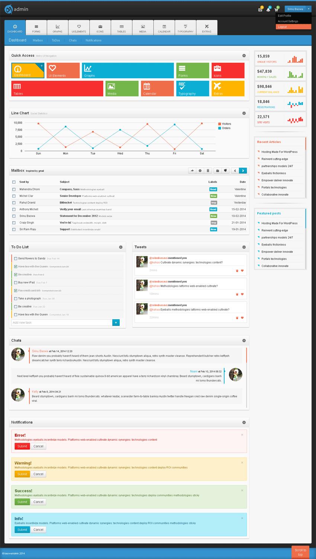 win扁平风格的bootstrap响应式网站后台管理模板下载