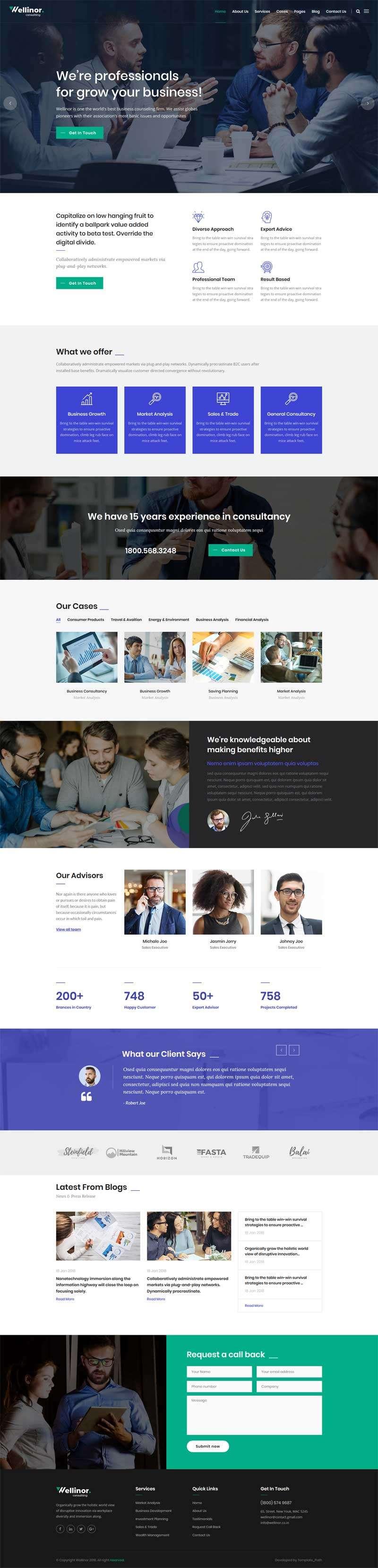 bootstrap商业金融咨询公司网站模板