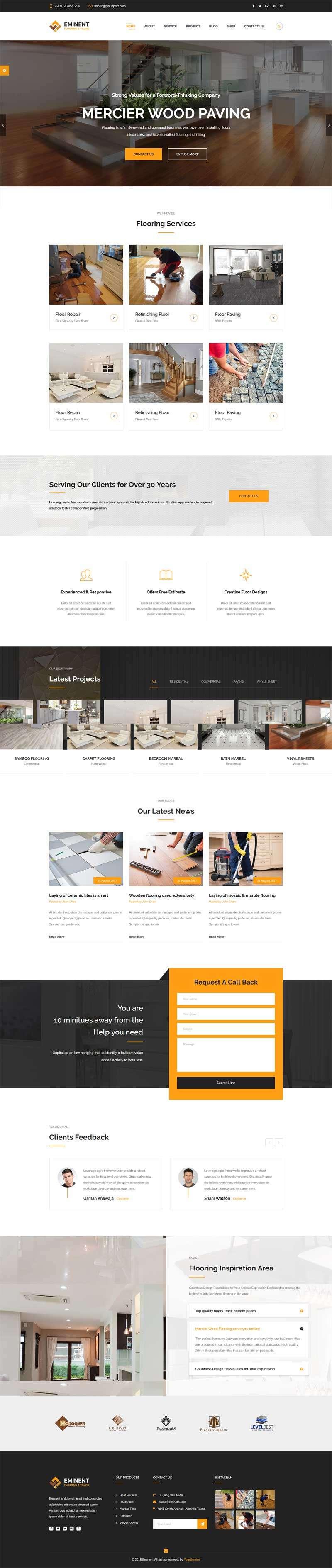 大气的地板瓷砖装修设计公司网站模板