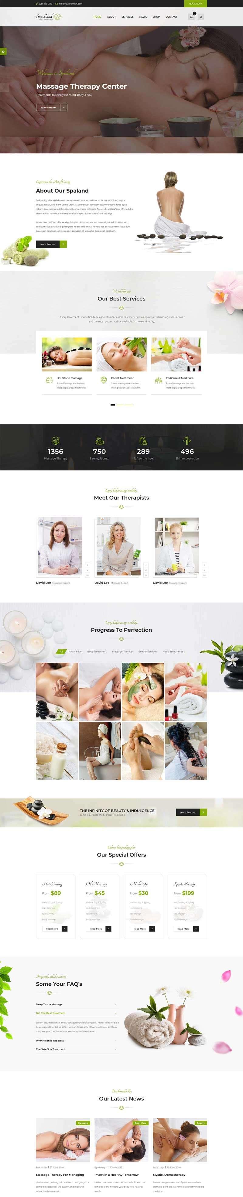 女性spa美容养生会所网站bootstrap模板