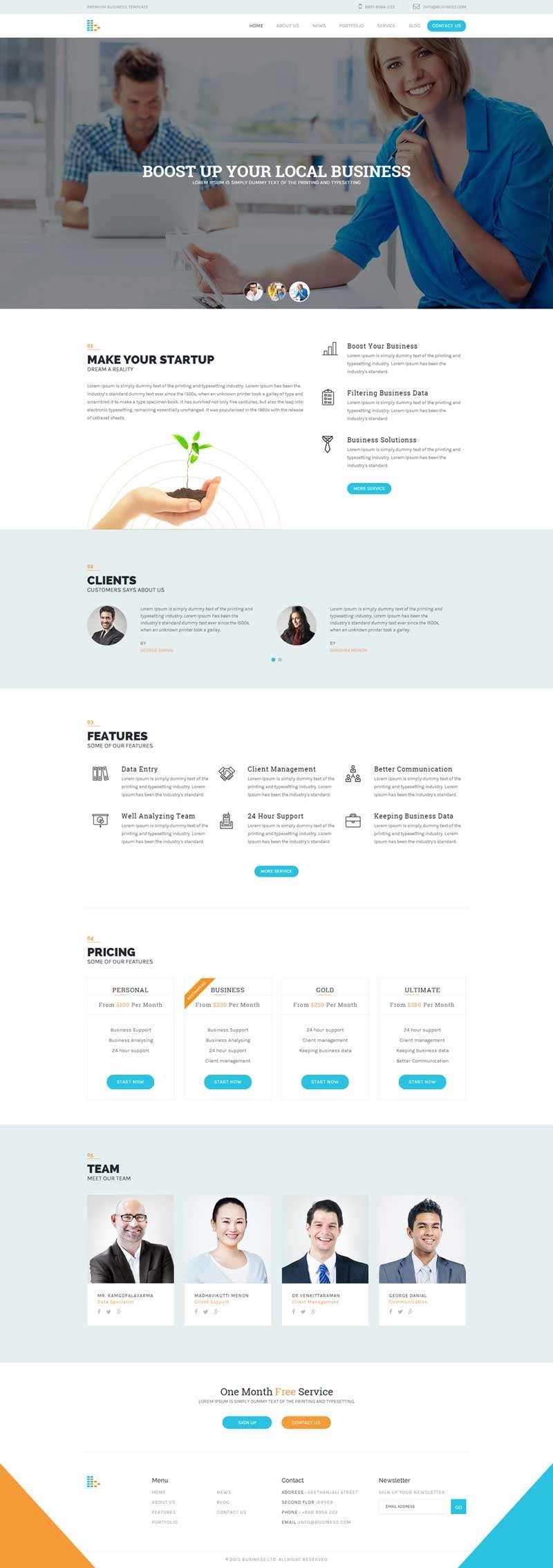 响应式的商业咨询公司网站HTML模板