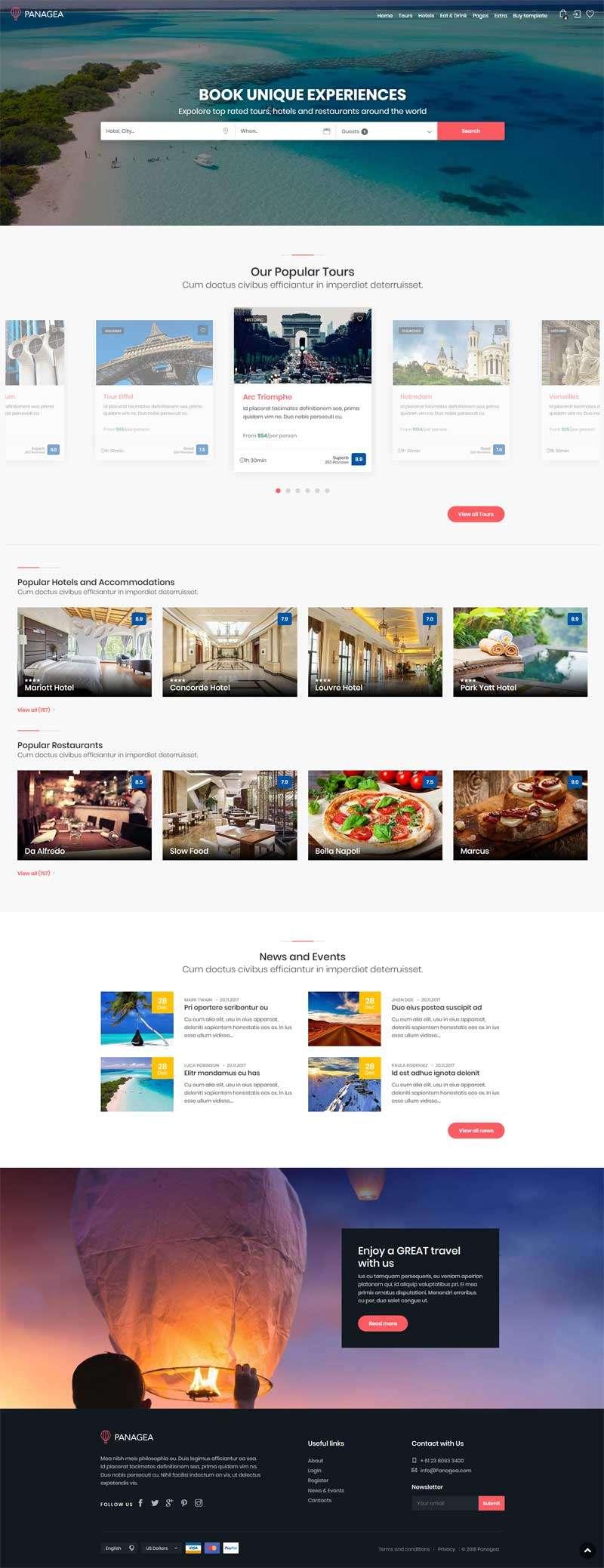 在线旅游酒店预订网站bootstrap模板