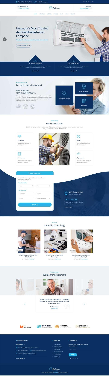 bootstrap空调电器维修服务网站模板