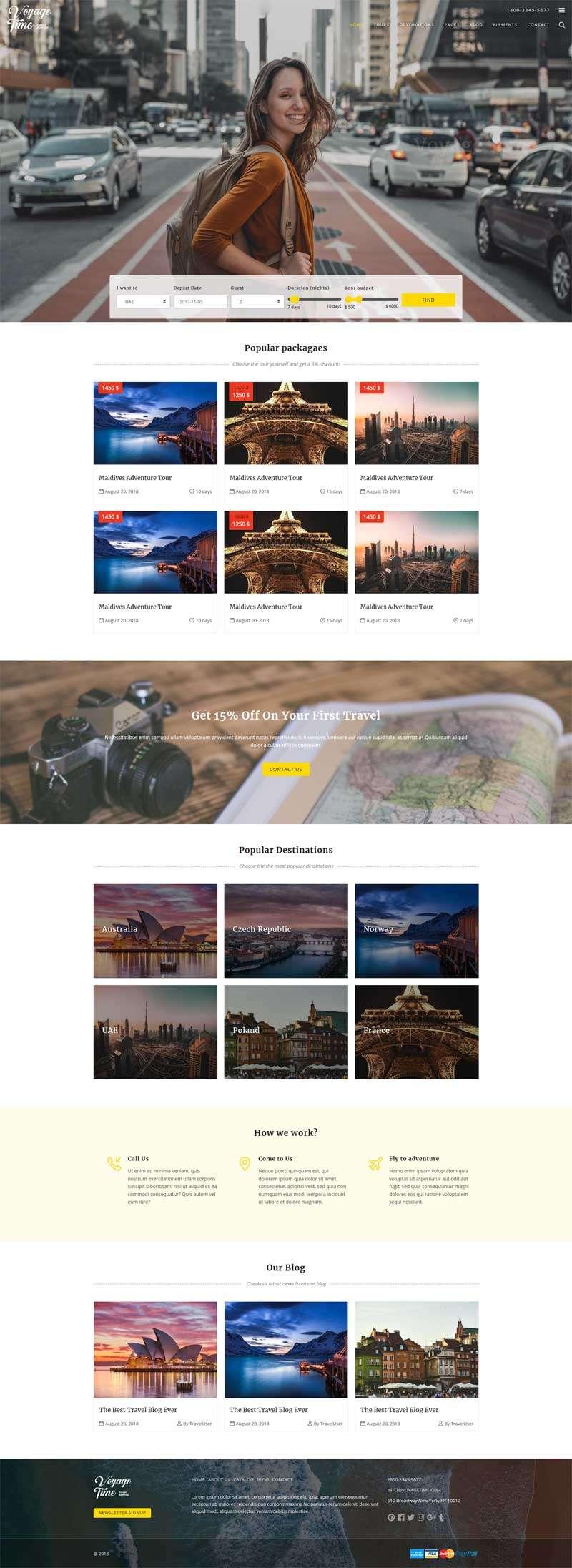 Bootstrap旅行社旅游公司网站模板