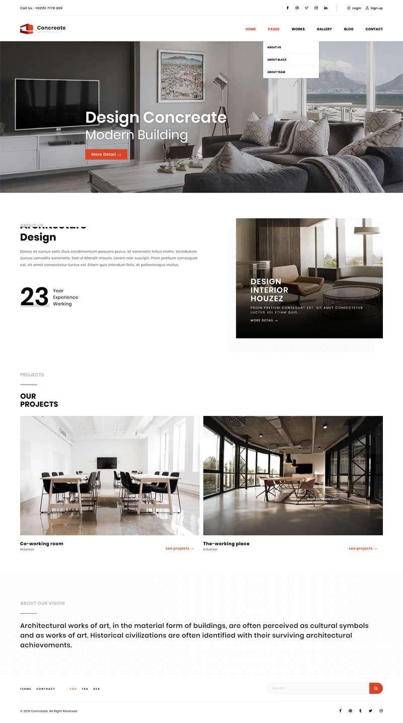 html5响应式室内家具装饰企业网站模板