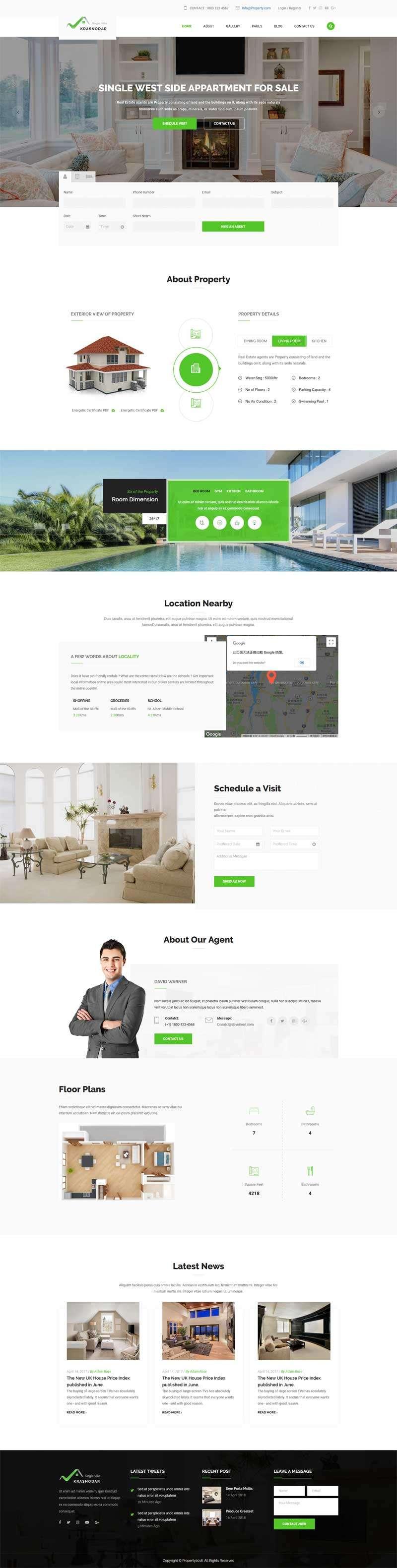 大气的二手房交易网站Bootstrap模板