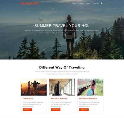 宽屏旅游线路攻略html静态网站模板