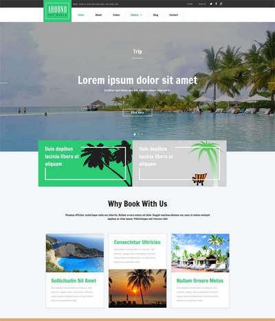 旅游攻略介绍网站展示html5动画