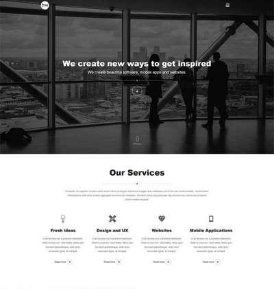全屏大气广告设计企业html整站网