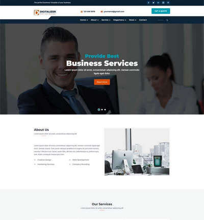 大气商业服务商务公司bootstrap网站模板
