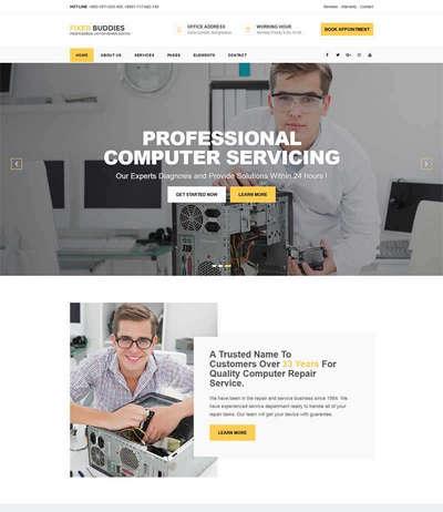手机电脑维修服务公司bootstrap网站模板