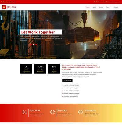 通用工业机械生产制造公司网页模板