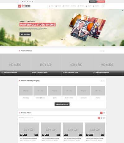 响应式视频分享交流平台html整站网站模板