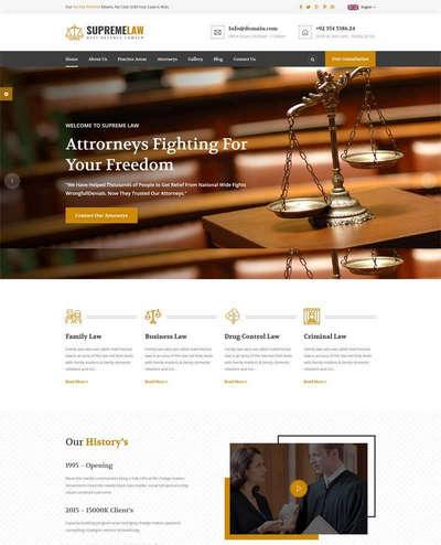 响应式律师法律顾问咨询服务bootstrap模网站板
