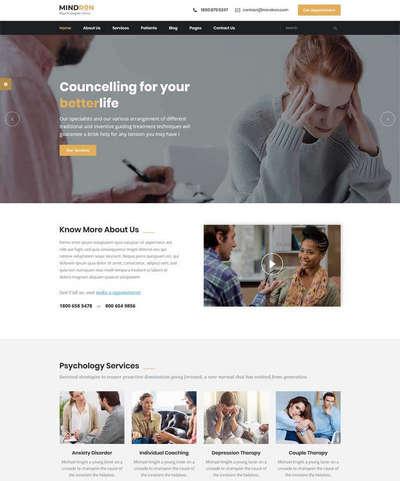 响应式心理咨询机构HTML5网站模板