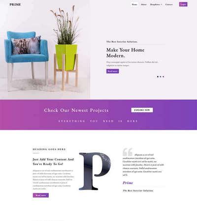 家居装饰软装设计公司html静态网